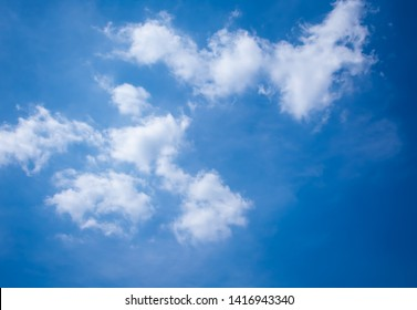 Beautiful blue sky with beautiful white clouds