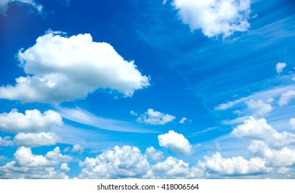 Beautiful blue sky and white clouds