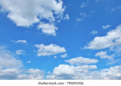 Beautiful blue sky and white clouds in sunshine day fresh air, feel relaxing