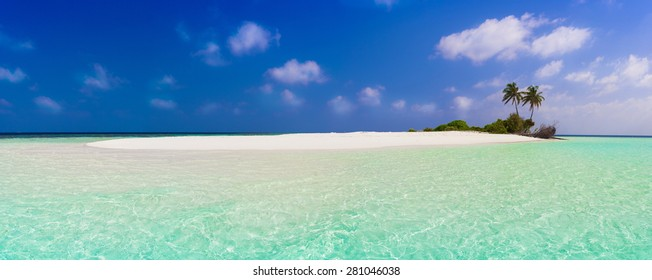 beautiful blue sun sea tropical nature background holiday luxury  resort island atoll about coral reef. Coconuts