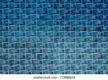 Beautiful blue tiles wall