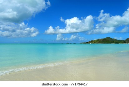 Beautiful blue water view of the beach. John's, Antigua