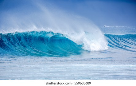 Beautiful blue wave at Maldives