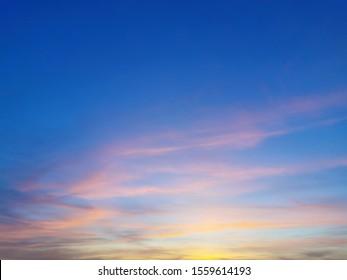 beautiful blue and yellow sun sky