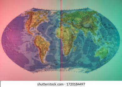 Beautiful Blurred background World map, concept of travel