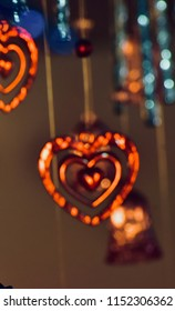 Beautiful blurry heart shape object isolated unique photograph