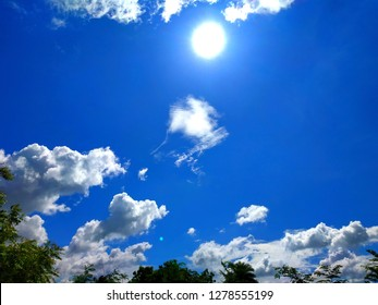 Beautiful blus sky with clouds