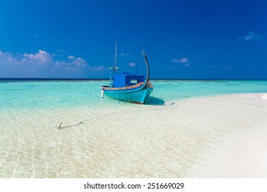 beautiful boat Maldives  atoll island paradise luxury  resort about coral reef in transparent water amazing  fresh  freedom snorkel adventure