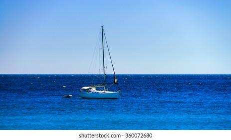 Beautiful boats on Mediterranean sea near Nice, summer day