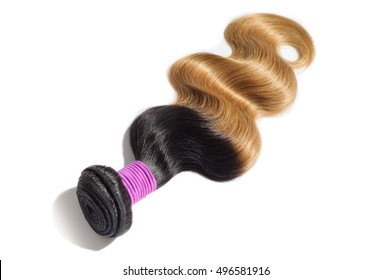 Beautiful Body Wave Ombre Two Tone Stock Photo Edit Now 496581889