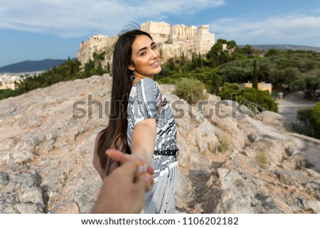 Beautiful Bohemian Style Girl Pulls Her Stock Photo Edit Now