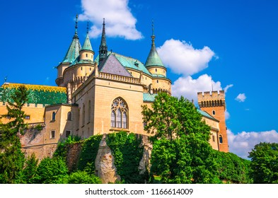 Beautiful Bojnice castle. One of the most popular castles in Slovakia.