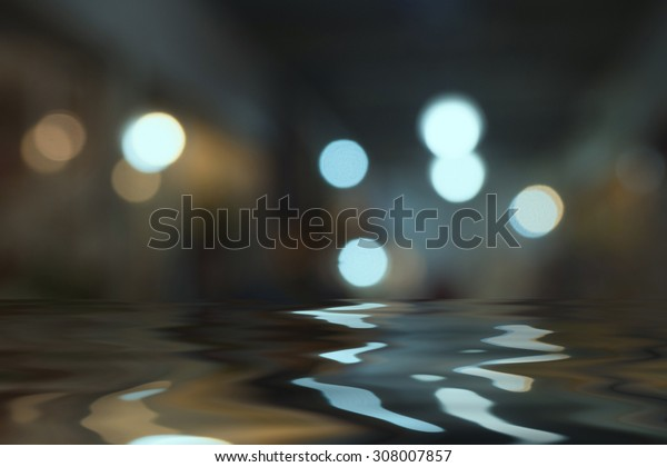 Beautiful bokeh background with a shadow behind