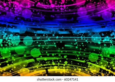 Beautiful Bokeh. blurry lights. Colored Defocus