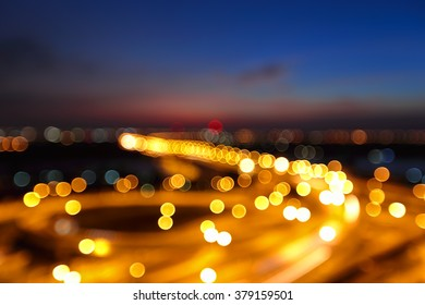 Beautiful bokeh of traffic from high point. Blurred background concept for business.