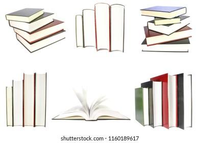 beautiful books isolated on white background