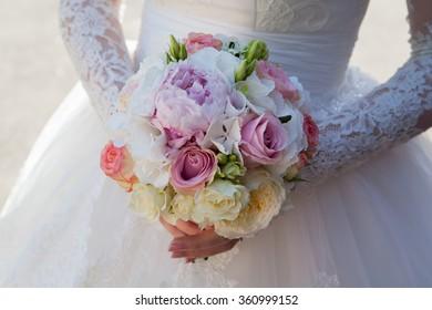 Beautiful bouquet of bright. Wedding bouquet.