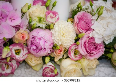 Beautiful bouquet of bright. Wedding bouquet.