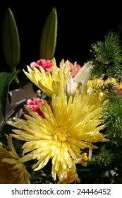 beautiful bouquet with chrysanthemum background