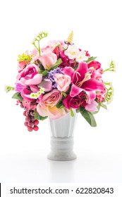 beautiful bouquet flower isolated on white background