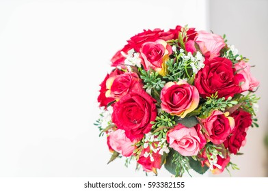 beautiful bouquet flowers on table