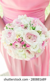 Beautiful bouquet of flowers ready for the big wedding ceremony. Wedding Bouquet