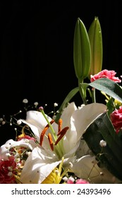 beautiful bouquet with lily background