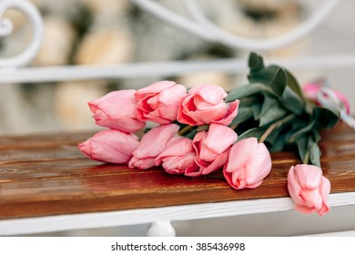 beautiful bouquet of pink tulips, Mother's Day, 8 March