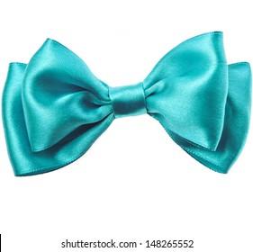 Beautiful bow close up isolated on white background