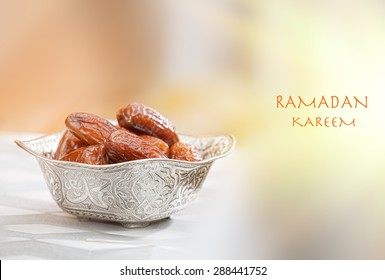 Beautiful bowl full of date fruits symbolizing Ramadan.