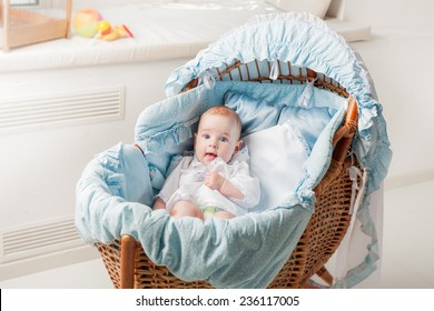 Beautiful Boy Lying In Cradle