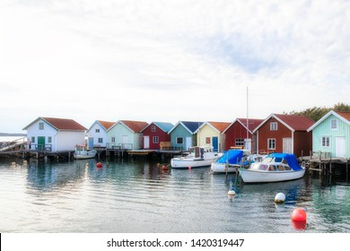 Beautiful Breviks Fishing Harbor on the Southern Koster Island, Sweden