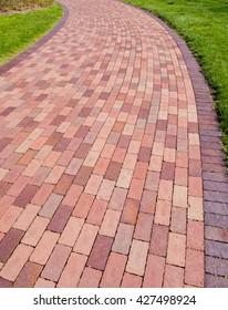 Beautiful Brick walkway path