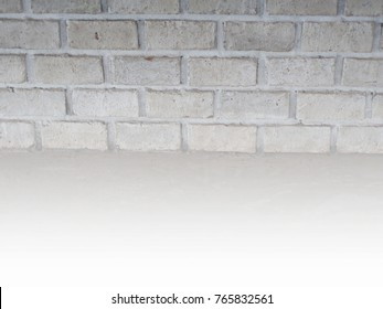 Beautiful brick wall white background And get popular in the vintage.