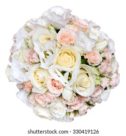 beautiful bridal bouquet at a wedding party,bunch of flowers. isolated