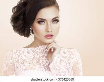 Beautiful bride. Bridal make up.