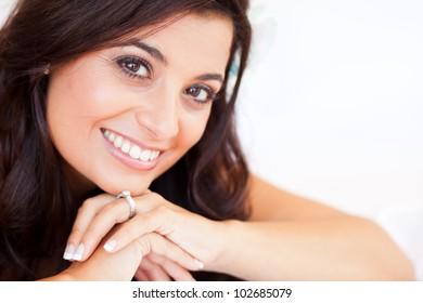beautiful bride closeup portrait