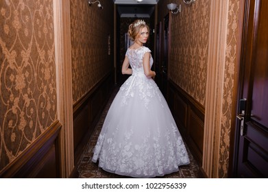 Beautiful bride in hall