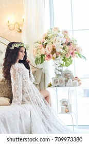 Bride Preparing Bra Wedding Dress Images Stock Photos Vectors