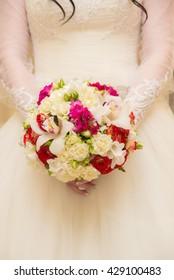 Beautiful bride on wedding day