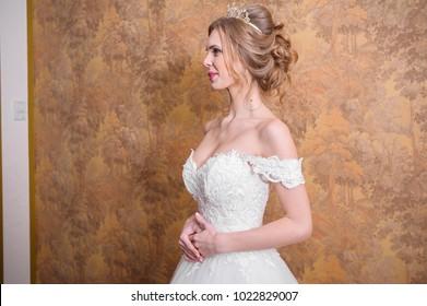 Beautiful bride wedding day