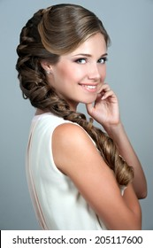 Beautiful bride. Wedding hairstyle