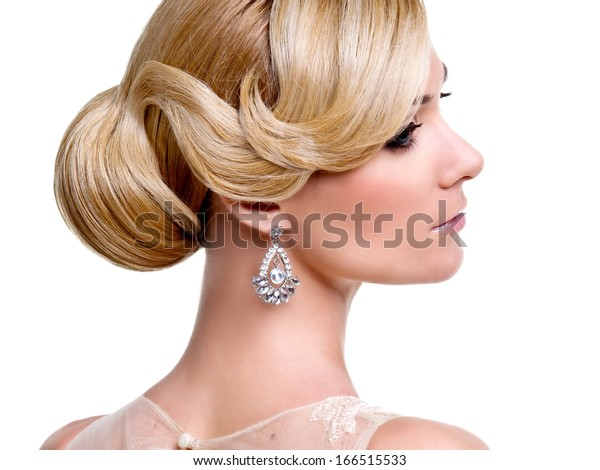 Beautiful bride. Wedding hairstyle