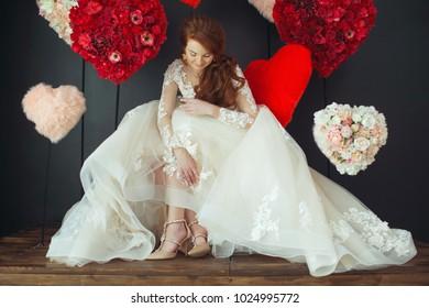 Beautiful bride woman