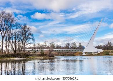 Beautiful bridge landmark in California, Sundia Bridge
