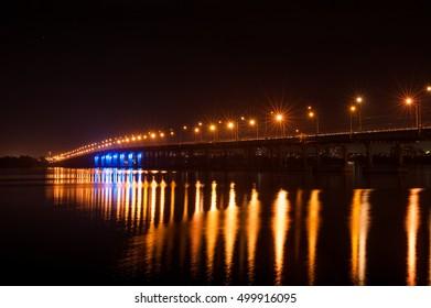 beautiful bridge at night