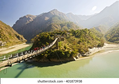 A beautiful Bridge on the way to Gangtok , Sikkim