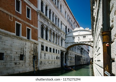 The Beautiful Bridge of Sighs in Venice