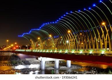 beautiful bridge in Taichung