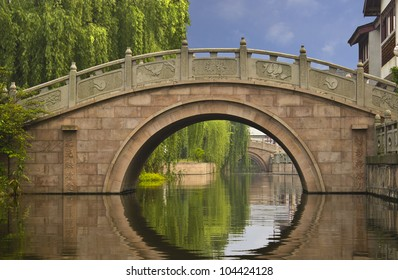 Beautiful bridge in Zhouzhuang, China.
